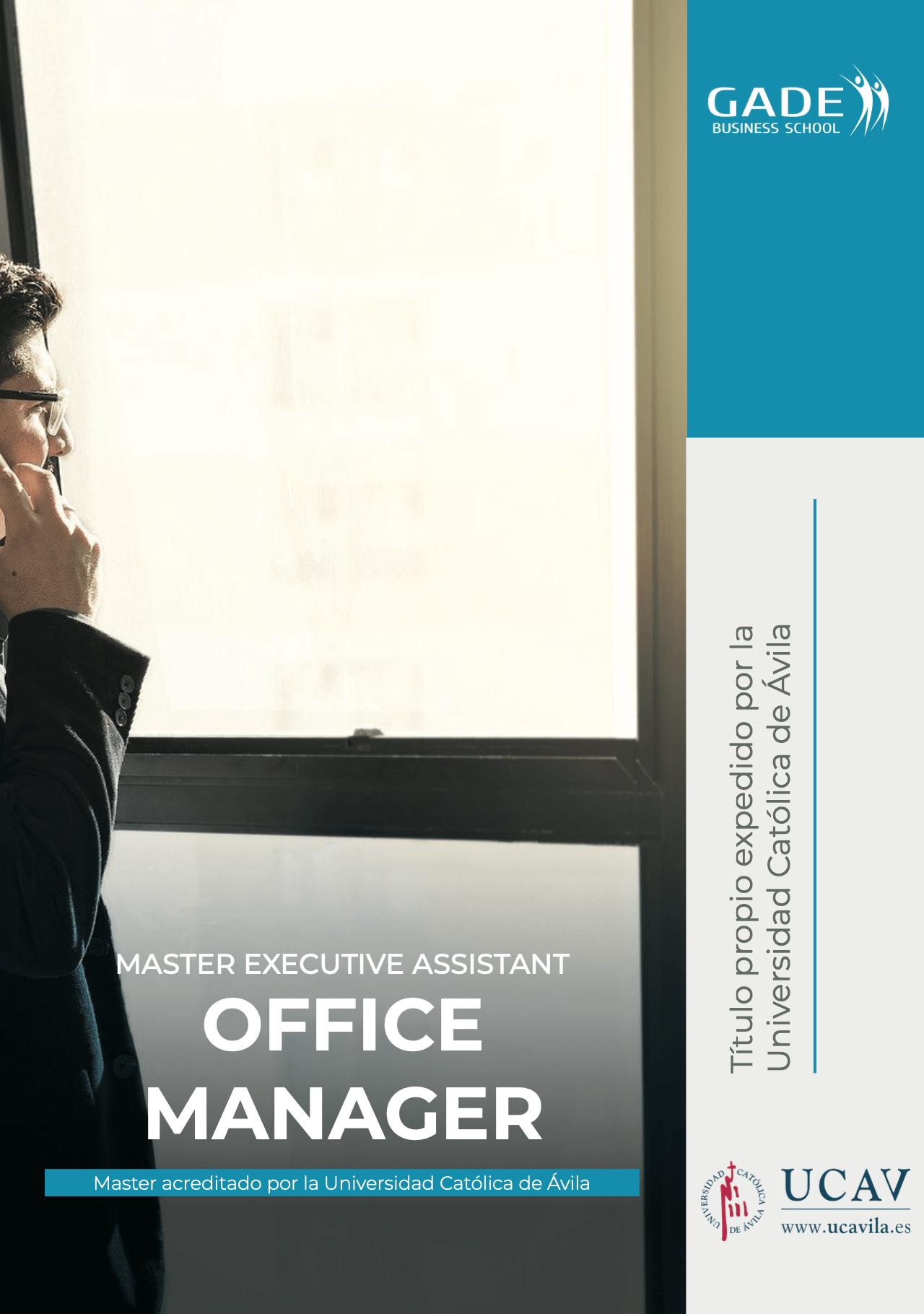 Programa completo - Máster EXECUTIVE ASSISTANT OFFICE MANAGER acreditado por la UCAV