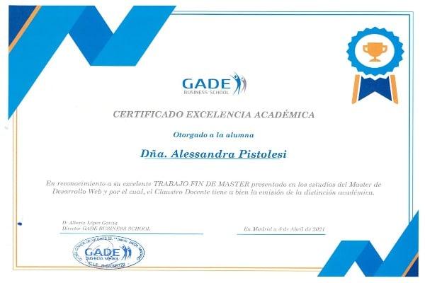 Acreditación académica: Alessandra Pistolesi.