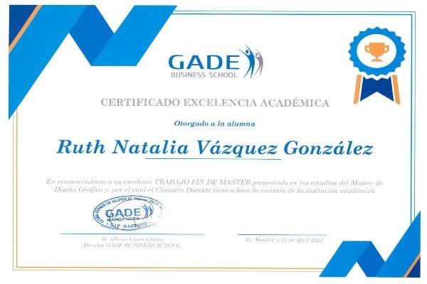 Acreditación académica: Ruth Natalia Vázquez González.